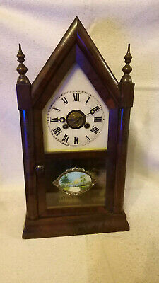 Antique Baby Gothic Steeple Clock With Alarm!