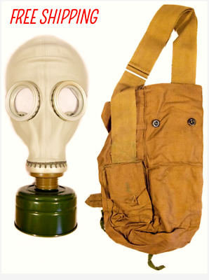 Soviet Russian Gas mask GP-5 filter & bag Military Surplus Vintage Size 3 Large