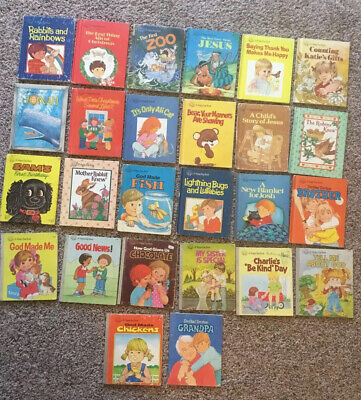 A Happy Day Book Lot Of 26 Children's Bible Stories Vintage Hardcover