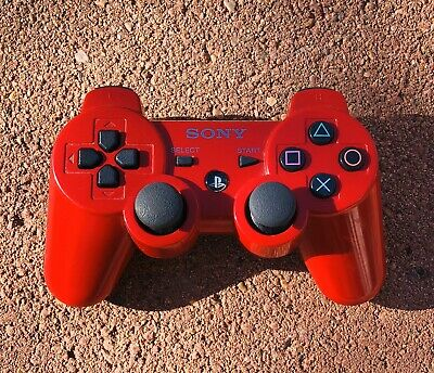 Genuine OEM Sony Playstation 3 PS3 Sixaxis DualShock 3 Controller - RED