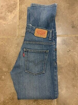 Levi Strauss 511 Slim Fit Red Tab Jean - W27/28 L27 - Mid Blue