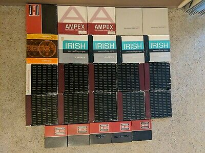 "Lot Of 25 Ampex  Reel To Reel Recording Tapes. Twenty 7"" & five 5"" Tapes"