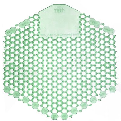 Fresh Products Wave 3D Urinal Screen, Herbal Mint