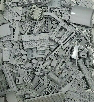 1lb Assorted GRAY Lego Bricks & Parts & Pieces Sold in Bulk by the Pound