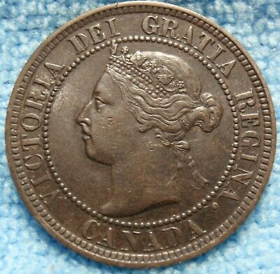 1897 AU-UNC High Grade CANADA LARGE CENT Victoria COIN CANADIAN.