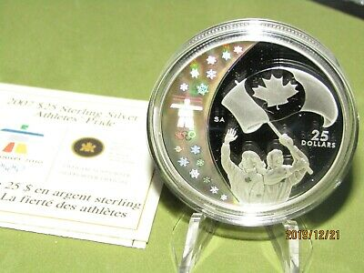 Canada $25 Olympic Silver Coin Athletes Pride