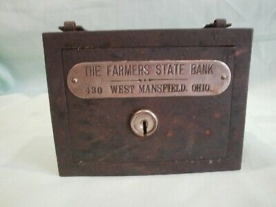 Vintage Promotional Coin Bank - THE FARMERS STATE BANK MANSFIELD. OHIO