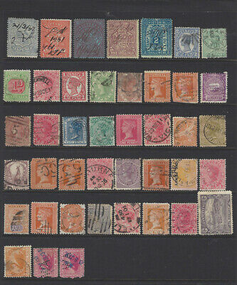 5 Pages of Mixed Australian State Stamps Used
