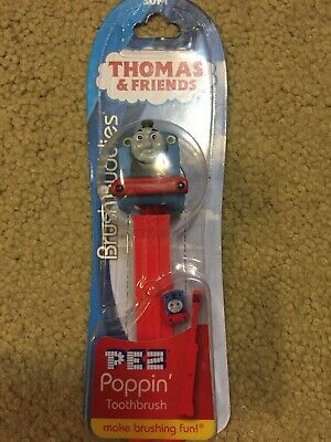 Thomas & Friends Brush Buddies PEZ Poppin Soft Toothbrushes