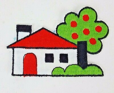 House Patch Vintage Embroidered Home