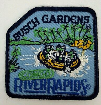 Vintage Busch Gardens River Rapids Patch