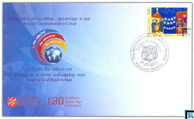 Sri Lanka Stamps, The Salvation Army, Special Commemorative Cover