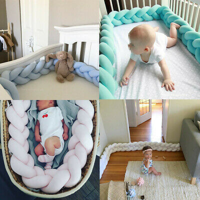 100CM Infant Baby Soft Plush Crib Cot Bumper Bed Bedding Pillow Pad Protector