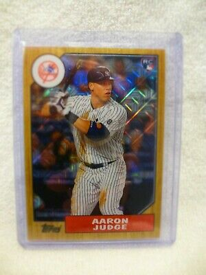 Aaron Judge RC 2017 Topps Chrome Silver Pack 1987 Anniversary Refractor 87-AJ