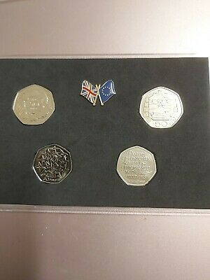 UK Brexit 50p Coin ( 4 Coin Set ) - Souvenir - Lovely Proof Finish!