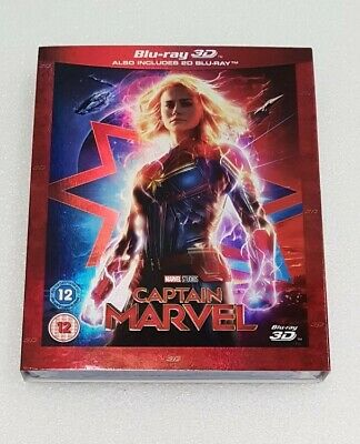 CAPTAIN MARVEL BLU-RAY WITH THE 3D DISC And 2d Blu-ray
