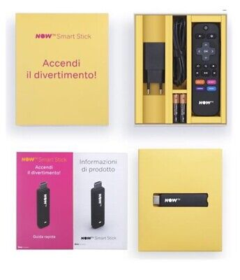 NOW TV SMART STICK HDMI SKY YOUTUBE DAZN NETFLIX-NUOVA- Senza Ticket
