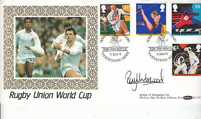 Rory Underwood Hand Signed Rugby Union World Cup Cover.