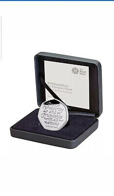 Brexit 50p Coin Official Royal Mint Limited Edition Brand New Solid Silver Proof