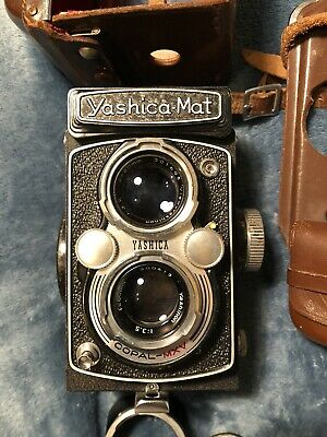 Yashica Mat Vintage Camera In Original Case And Parts