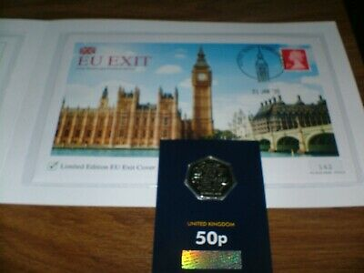 BREXIT STAMP COVER 2020  EU  EXIT LTD EDITION ONLY 995 PRODUCED & COIN In Hand