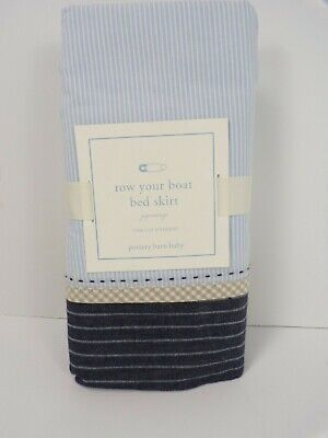 Pottery Barn Baby Row Your Boat Bed Skirt #6339