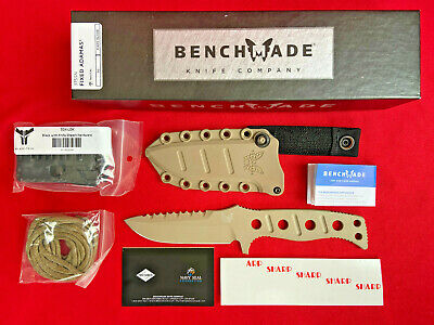 Benchmade 375SN Adamas Fixed Blade Tactical Military Knife w/ Molded Sheath ~NEW