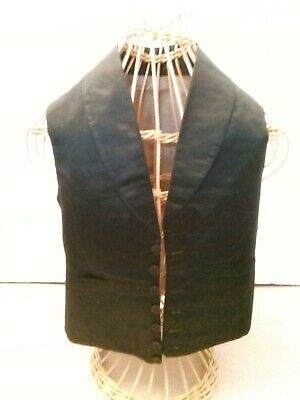 boys antique black  satin waistcoat