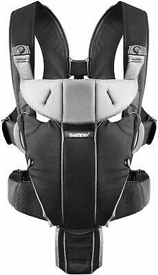 Baby Bjorn Baby Carrier Miracle Black Silver Cotton Mix - Brand New In Box