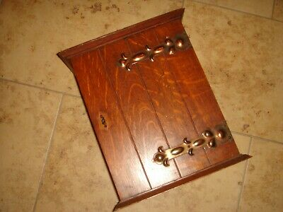 antique arts and crafts art nouveau ? smokers cupboard oak decorative