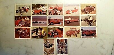 1960s VINTAGE HOT ROD CAR MAGAZINE SPEC SHEET CARD COLLECTION LOT OF 17