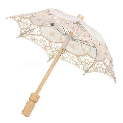 Lace Embroidered Umbrella Elegance Parasol For Bridal Wedding Party  !