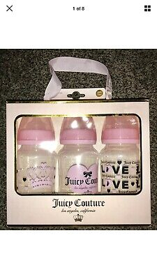 NEW JUICY COUTURE 3-pack 11oz. BPA Free leak proof baby / infant bottles