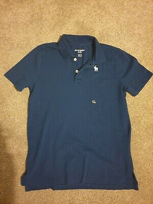 BRAND NEW WITH TAGS Boys Abercrombie Polo Shirt Navy Age 15/16