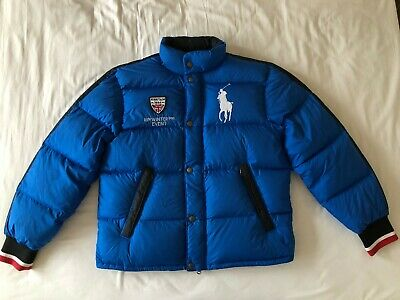 Ralph Lauren Polo Down Jacket Britain Big Pony Puffer - Size Large L - RRP £400