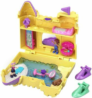 Polly Pocket World Deep Sea Sandcastle Compact Playset Shani Doll Surf Beach New
