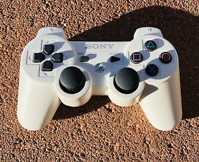 Genuine OEM Sony Playstation 3 PS3 Sixaxis DualShock 3 Controller - WHITE