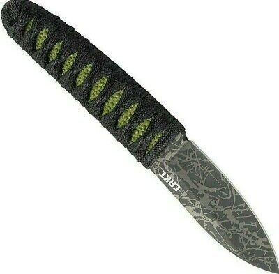 CRKT Akari Cord Wrapped Handle Fixed Blade Knife Lucas Burnley Design 2480