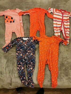 Next 3 x Baby Girls Sleepsuits 12-18 Months  and 2 x from George