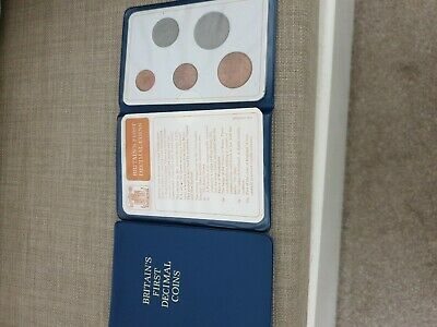 British First Decimal Coin Set Presentation Collection Uncirculated 1971-1968
