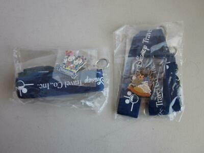 2 Walt Disney Travel Co. Inc.Lanyard ID Holder with Two different Pins
