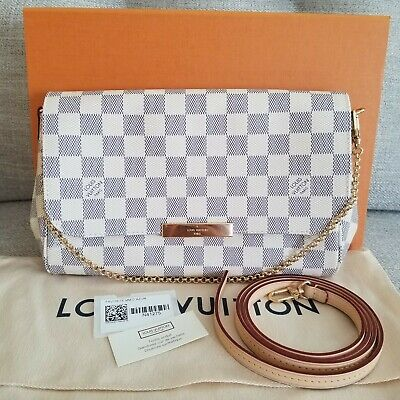 BRAND NEW! 2019 Louis Vuitton Favorite MM Damier Azur Bag Crossbody 🇨🇵 MIF🇨🇵