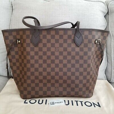 BRAND NEW! 2019 Louis Vuitton Neverfull MM Damier Eben Rose PINK 💖NO POUCH💖