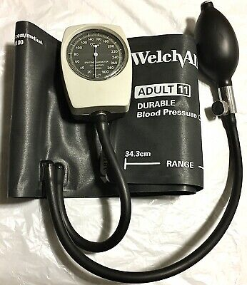Tycos Welch Allyn Hand Held Blood Pressure Monitor Sphygmomanometer Made In USA