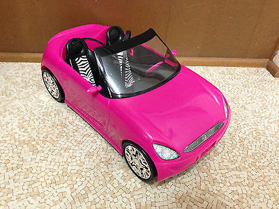 2009 Barbie Summer Hot Pink Zebra Glam Convertible Sports Car Vehicle