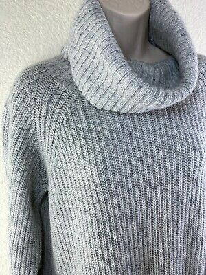 Philosophy Dresses Republic Clothing Gray Turtleneck Sweater Dress Pockets Sz L