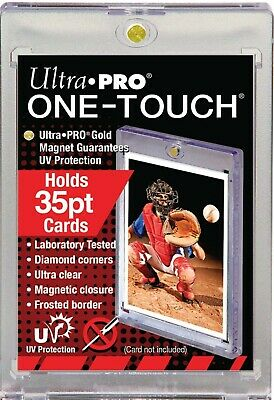 1 ULTRA PRO One Touch Magnetic Holders 35pt UV Gold Magnet New 35 pt point