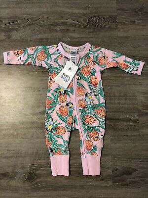 Bonds Zip Bluey Zippy Wondersuit Baby Boy Girl BNWT Size 0000 Newborn Pink