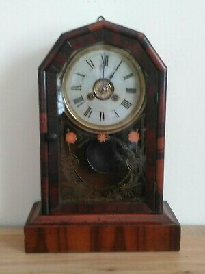 Antique american Jerome+ co ,mantle+ alarm clock ,no254 one day time piece ,gwo