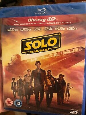 SOLO: A STAR WARS STORY 3D + 2D Blu-Ray BRAND NEW - Experienced US Seller